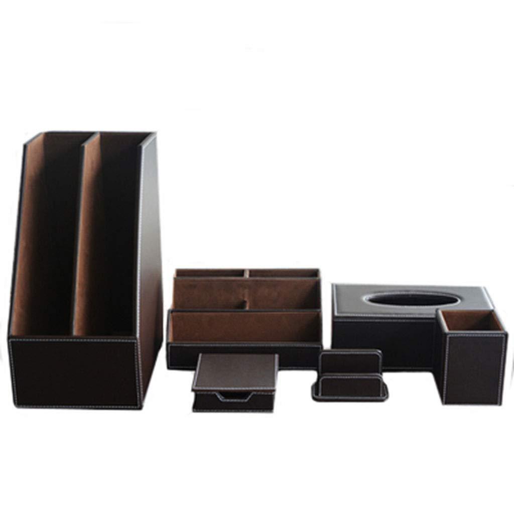 Leder-Stifthalter, Desktop-Aufbewahrungsbox, Multifunktions-Schreibwaren, Mode, Bürobedarf, Werbegeschenke, Anzüge (Farbe   Kaffee - farbe, ausgabe   B11) Kaffee - Farbe B9