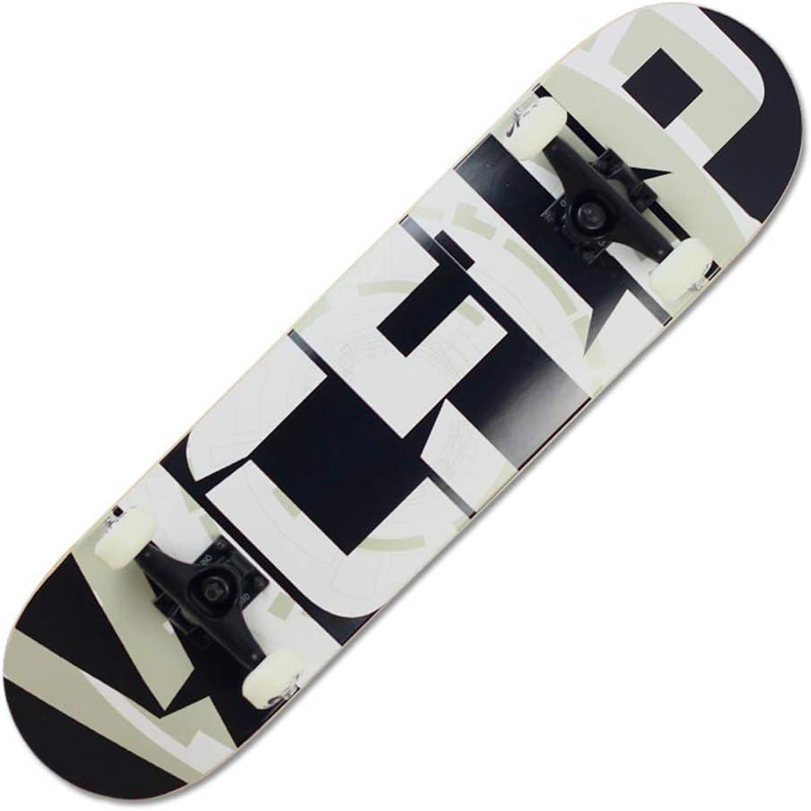 ZAIHW 9層スケートボードデッキ、大人用キッズスケートボード、ABEC-9ベアリング付き9層80Aメープルデッキ丈夫なスケートボード(初心者およびプロフェッショナル向け) C