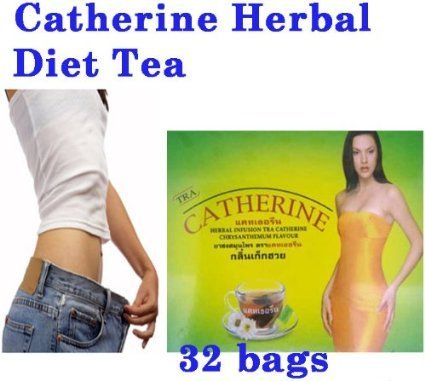 - 32 bags CHRYSANTHEMUM CATHERINE INFUSION SLIMMING HERBAL TEA WEIGHT LOSS DETOX.