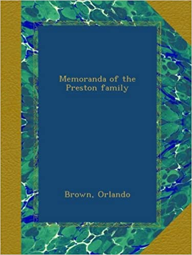 Book Memoranda of the Preston family
