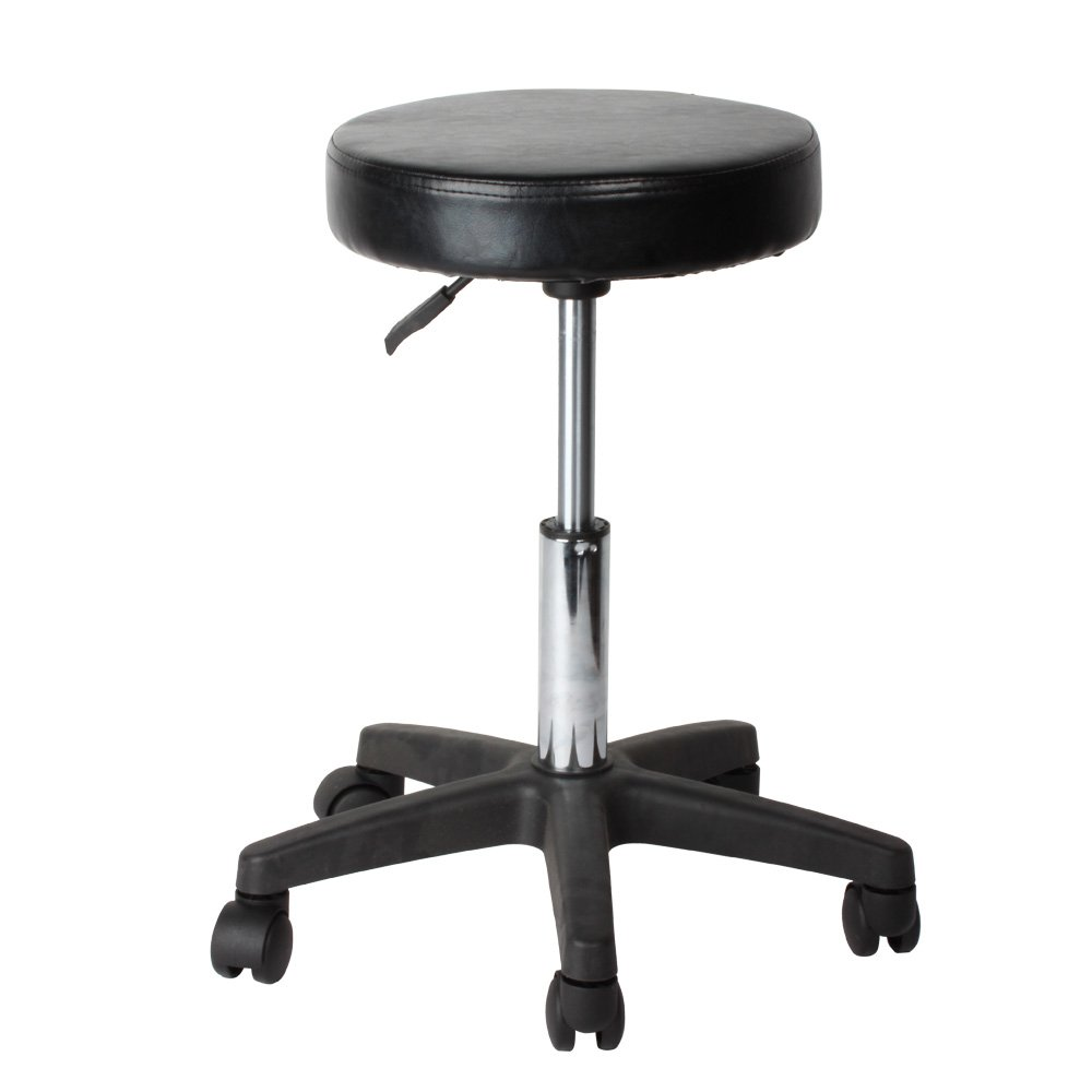 Flexzion Rolling Swivel Stool Pneumatic Bar Work Chair Adjustable Height With Casters Wheel 360 Degree Rotation for Home Office Salon Massage Table 13079