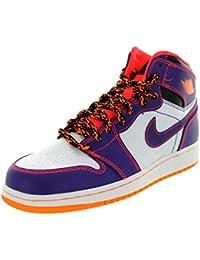 jordan shoes for kids. nike kids air 1 retro high bg crt prpl/brght crmsn/white/brg basketball shoe 7 us jordan shoes for