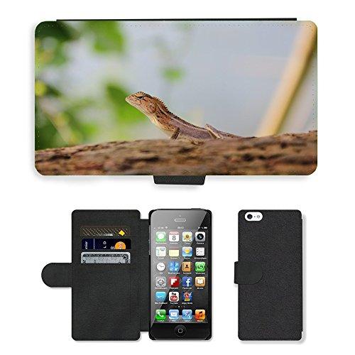 GoGoMobile PU Leather Flip Custodia Protettiva Case Cover per // M00118781 Lizard Nature Animaux // Apple iPhone 5 5S 5G