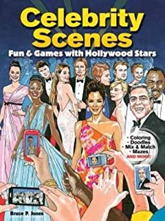 celebrity scenes fun games with hollywood stars - Celebrity Coloring Book