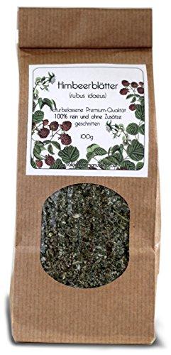 Himbeerblätter, geschnitten, 100g - Rubus idaeus - 100% sortenreines Premium-Produkt, naturbelassen und ohne Zusätze.