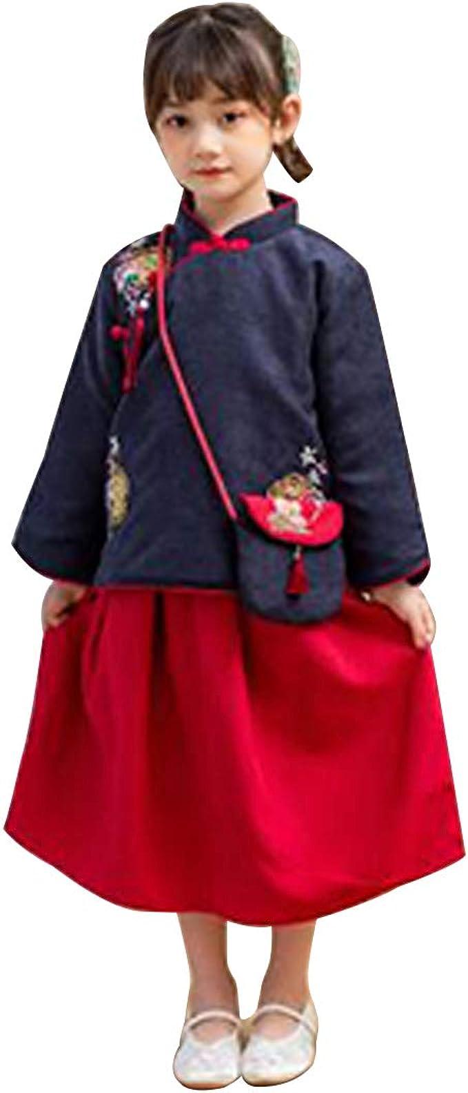 Huicai Chica Hanfu República de China Bordado Estilo de Vestuario ...