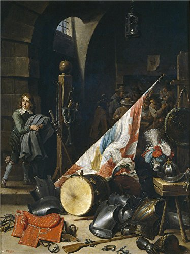 Oil Painting 'Teniers David Un Cuerpo De Guardia 1640 50 ' P