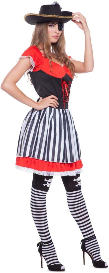 Folat 63324 Pirata Disfraz de los años 60 para Mujer (2 Piezas ...