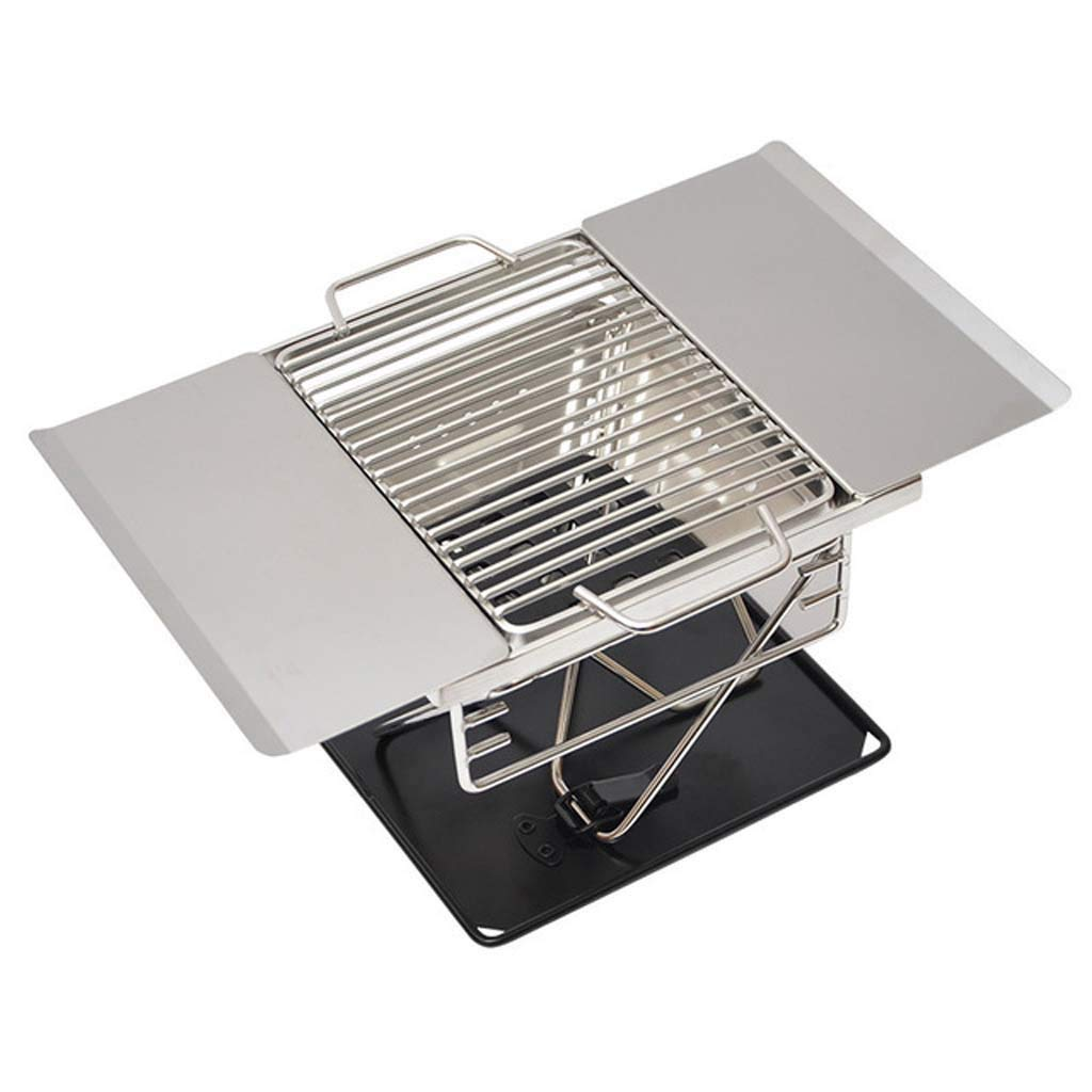 Stainless Steel Folding Grill Portable Barbecue Camping Outdoor Travel Cooker Charcoal Barbecue Tool