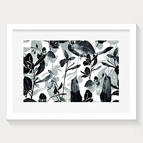 Yishuo Imprints Meadow Flowers And Herbs Hand Painted Seamless Pattern Digital Drawing And Watercolor Fashion Bedroom Decor White Paint Artwork Print