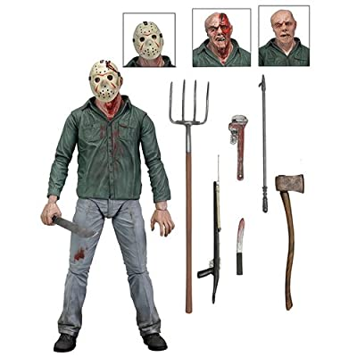 "NECA Friday The 13th Scale Ultimate Part 3 Jason Action Figure, 7"": Toys & Games"