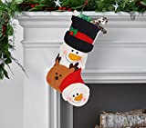 Forhouse Christmas Stockings 3D Vivid Retro Personalized Christmas Socks Decoration Christmas Tree Fireplace Suspension New Year Christmas Socks Christmas Candy Present Decoration Socks - Snowman