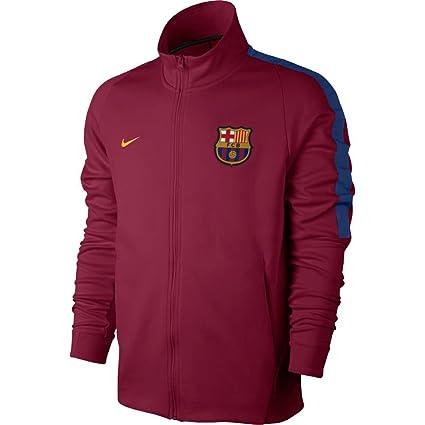 df269ec696e Amazon.com : Nike 2017-2018 Barcelona Authentic Franchise Jacket ...
