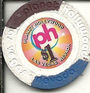 $1 planet hollywood las vegas nevada casino chip