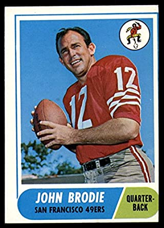 387f1e760 Amazon.com  1968 Topps  139 John Brodie Very Good 49ers ...