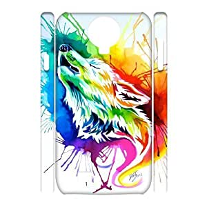 Personalized New Print Case for SamSung Galaxy S4 I9500 3D, Rainbow Wolf Phone Case - HL-R671914