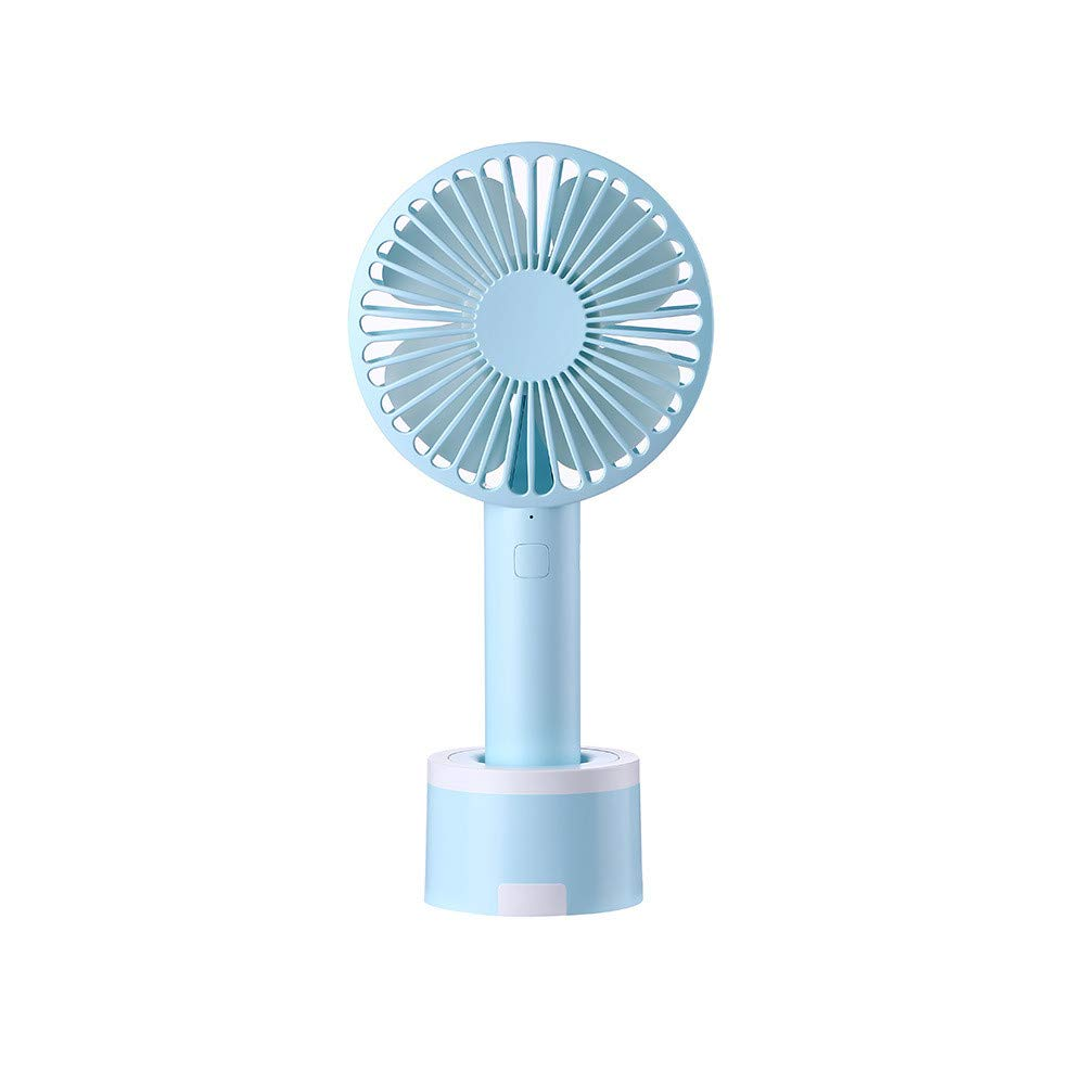 Mini Handhold Fan for Women,Best Summer Gift Portable Air Cooling Removable base USB Fan with Phone Holder Fans for Desk Home Speed Adjustable Cute Fan for Travelers and Office Workers(WA-Blue)