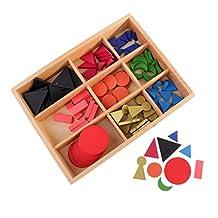 MonkeyJack Montessori Kids Early Development Tool Basic Wooden Grammar Symbols with Box