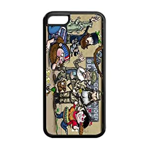 Duck Dynasty Super Fit iPhone 5c Cases Solid Rubber Customized Cover Case for iPhone 5c 5c-linda892