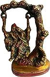KVR Brass Hindu Gokul God Idol Radha Krishna Kanha Kanhaiya Shyam Banke Bihari Makhan Chor Ladoo Gopal statue (Radha Krishna-5)