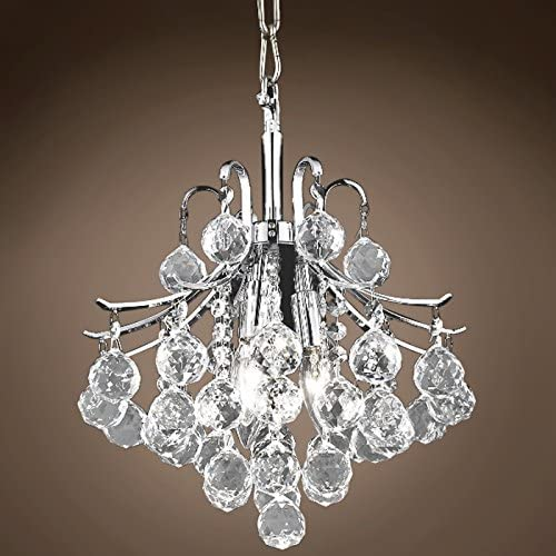 Contour 3 Light 12 Chrome Chandelier with Clear European Swarovski Crystals