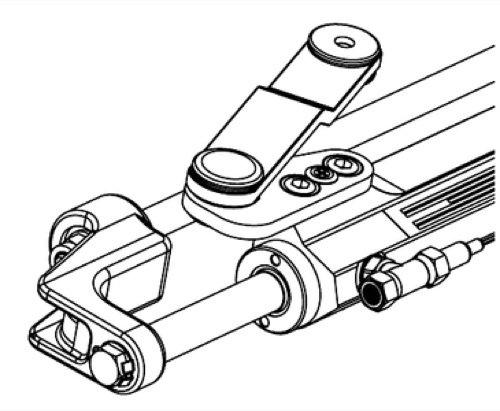 uflex - Silversteer Front Mount Hydraulic Steering Cylinder - UC128SVS2 - Cylinder Mount Hydraulic Steering