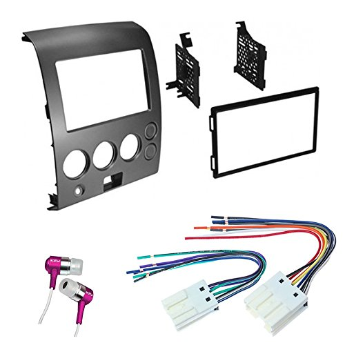 Nissan Titan Wiring Harness Stereo : Car cd stereo receiver dash install mounting kit wire