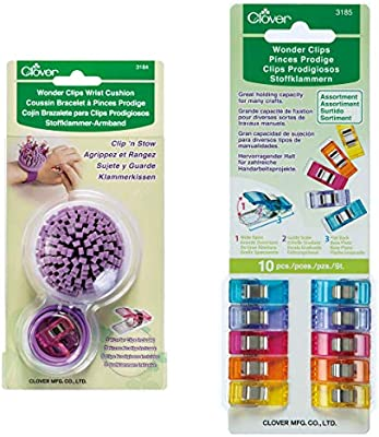 Clover Assorted Color Wonder Clips 10 Pieces 3185