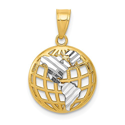 14k Yellow Gold Globe Pendant Charm Necklace Travel Transportation Man Fine Jewelry Gift For Dad Mens For Him