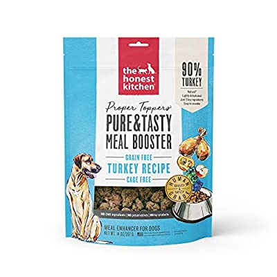 The Honest Kitchen Proper Toppers: Natural Human Grade Dehydrated Grain Free Dog Superfood - Cage Free Turkey 14 oz