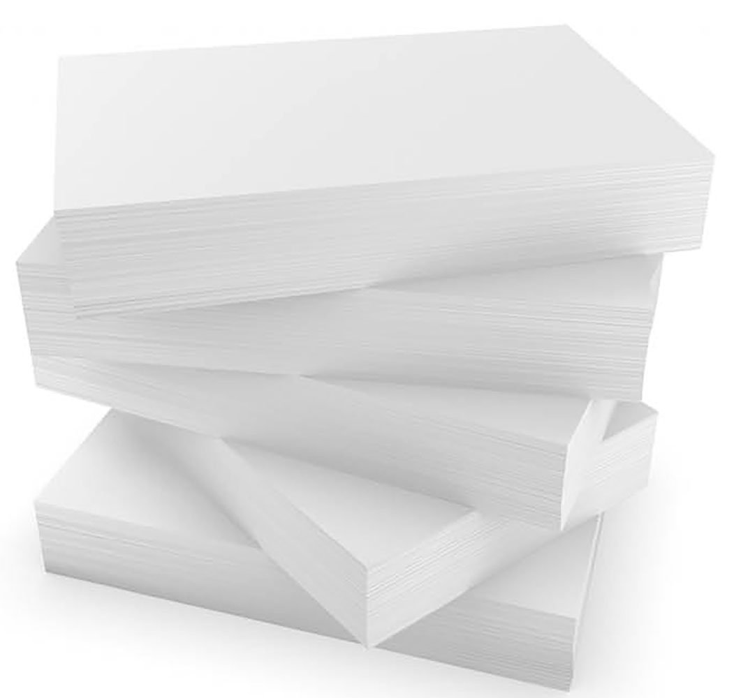 Debra Dale Designs 3 x 5 Inch Blank Flash Cards - Extra Heavy Sturdy Super Thick Bright White Smooth Premium 140# Index Card Stock - 5 Shrunk Wrapped Packages of 100 by DEBRADALE DESIGNS