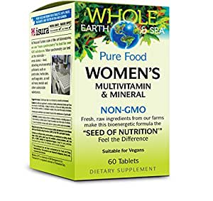 Whole Earth & Sea - Women's Multivitamin & Mineral, Raw, Whole Food Nutrition, 60 Tablets
