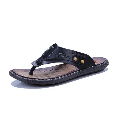 LYZGF Zapatillas Antideslizantes Ocasionales del Dedo del Pie De La Juventud De Los Hombres Zapatillas Sandalias del Dedo Descubierto De La Moda De La ...