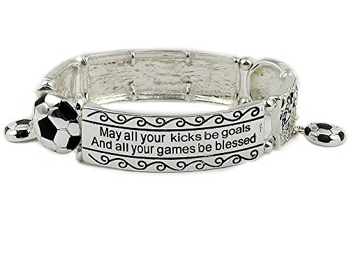 Soccer Bracelet: #1 Top Selling Gift for Soccer Player, Coach and Team. Why Purchase Another Soccer Trophy?