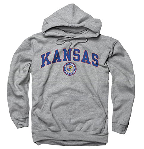 - Kansas Jayhawks Adult Arch and Ring Hooded Sweatshirt