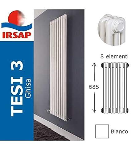 Irsap Radiador Tesi fundido, batería 685/3, 8 elementos, blanco