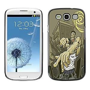 Carcasa Funda Prima Delgada SLIM Casa Case Bandera Cover Shell para Samsung Galaxy S3 I9300 / Business Style Street Gangster Hip Hop
