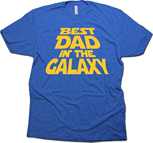 Best Dad in The Galaxy T-Shirt, for Dad & Sticker. X-Large (Royal Heather)