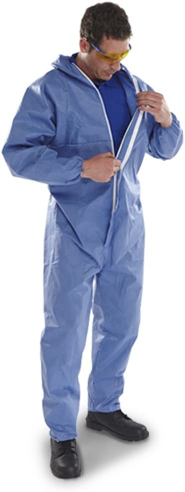 Comes With TCH Anti-Bacterial Pen! The Chemical Hut Pack of 5 Type 5//6 Disposable Paper Overall Coverall Protectors Large