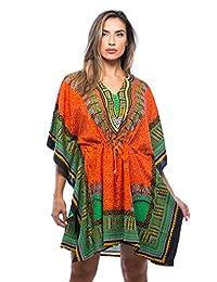 Riviera Sun African Print Dashiki Caftan for Women