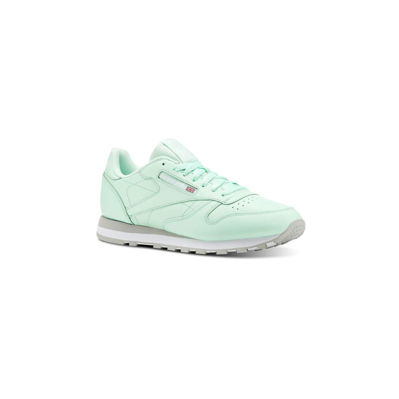 MultiCouleure (Digi   Digital vert   blanc   gris 000) Reebok Cl Leather Mu, Chaussures de Fitness Homme 40.5 EU