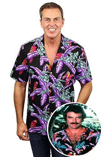 Disegni Nero Selleck Magnum Hawaiana Found Tom Made Hawaii Originale Paradise Differenti Camicia In wq7CZ1v