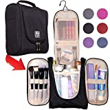 Premium Hanging Travel Toiletry Bag for Women and Men   Hygiene Bag   Bathroom and Shower Organizer Kit with Elastic Band Holders for Toiletries, Cosmetics, Makeup, Brushes