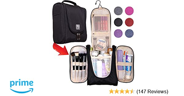 Amazon.com   Premium Hanging Travel Toiletry Bag for Women and Men ... 83fdbc5c70deb