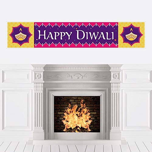 Big Dot of Happiness Happy Diwali - Festival of Lights Party Decorations Party Banner