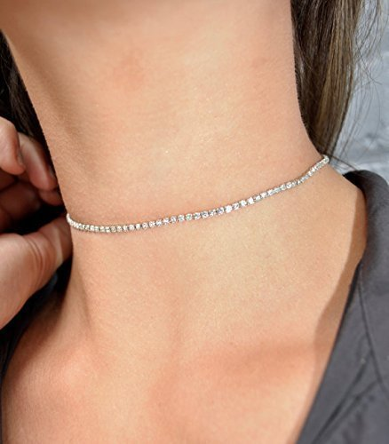 Head Custom Bracelets (Rhinestone Choker Necklace , Diamond Choker, Small Delicate Choker Necklace, BEST SELLER Thin Choker Necklace/bracelet/anklet /headband/Garter by custom jewelry)