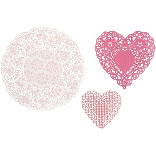 Theme Tea - Talking Tables Pink N Mix Doilies (mix sizes) for a Tea Party or Birthday, Pink (30 Pack)