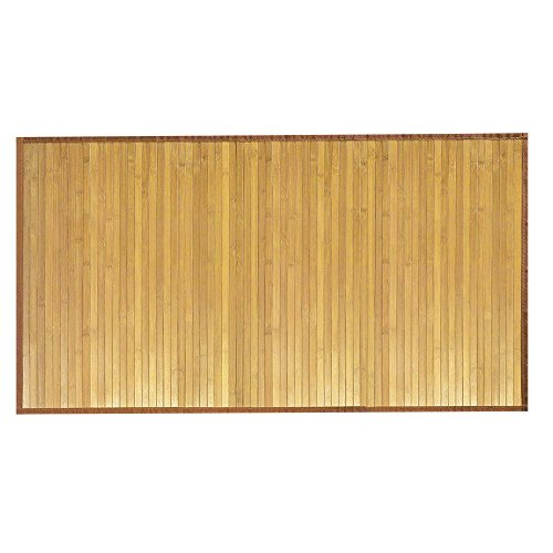 Venice Natural Bamboo 5' X 8' Floor Mat, Bamboo Area Rug Indoor Outdoor (Bamboo Wide Slat Rug)