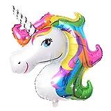 catnew bonito unicornio globo de papel de aluminio inflable juguetes para niños fiesta de cumpleaños Festival Decoración de la habitación, Multicolor, Una talla