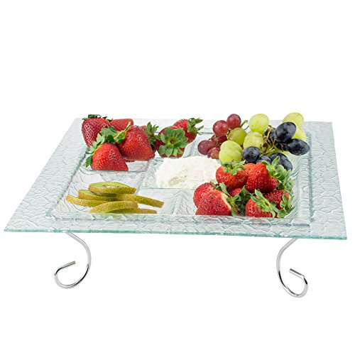Pink 2 Tiered Serving Tray - 1